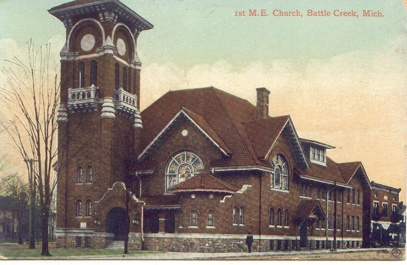 Photo of our church from another 1910 postcard