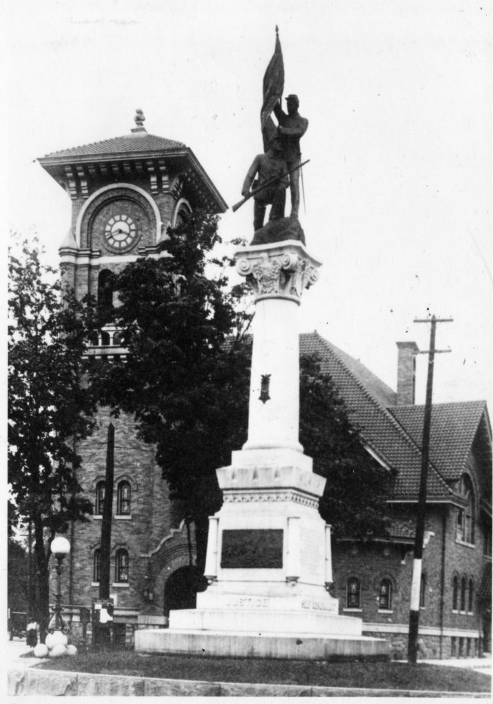 Old photo of church tower